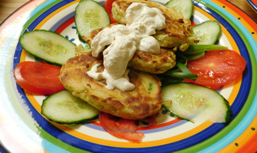 Kohlrabi & Gorgonzola Fritters