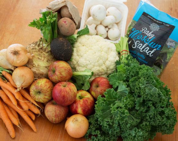 Backyard Bounty all-Tasmanian Vegie box: 21st April