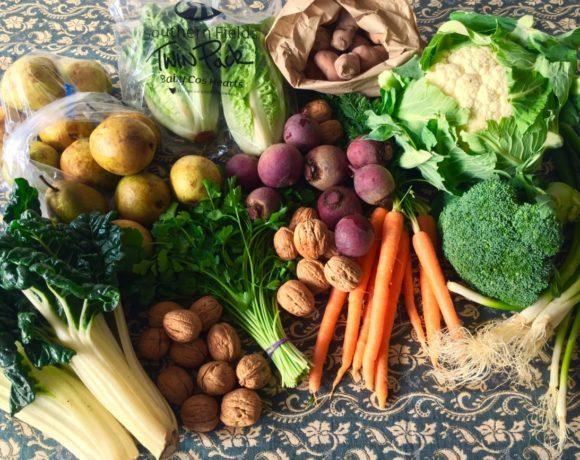 Backyard Bounty all-Tasmanian Vegie box: 10th August