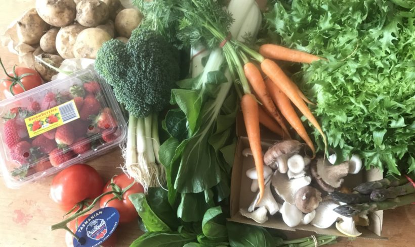 Backyard Bounty all-Tasmanian Vegie box: 16th November