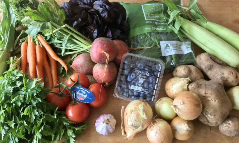 Backyard Bounty all-Tasmanian Vegie box: 15th February