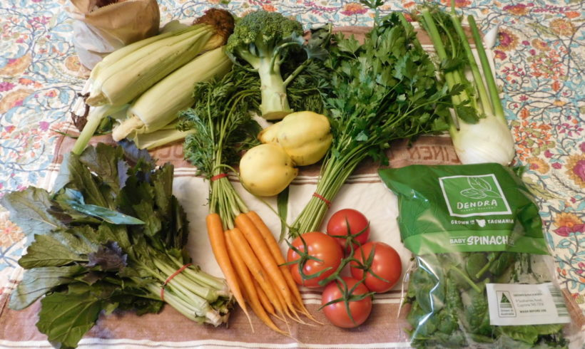 Backyard Bounty all-Tasmanian Vegie box: 29th March