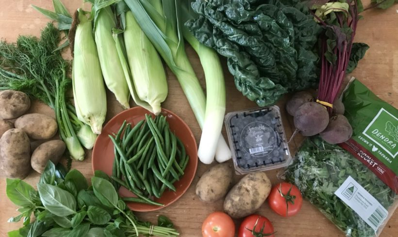 Backyard Bounty all-Tasmanian Vegie box: 1st March