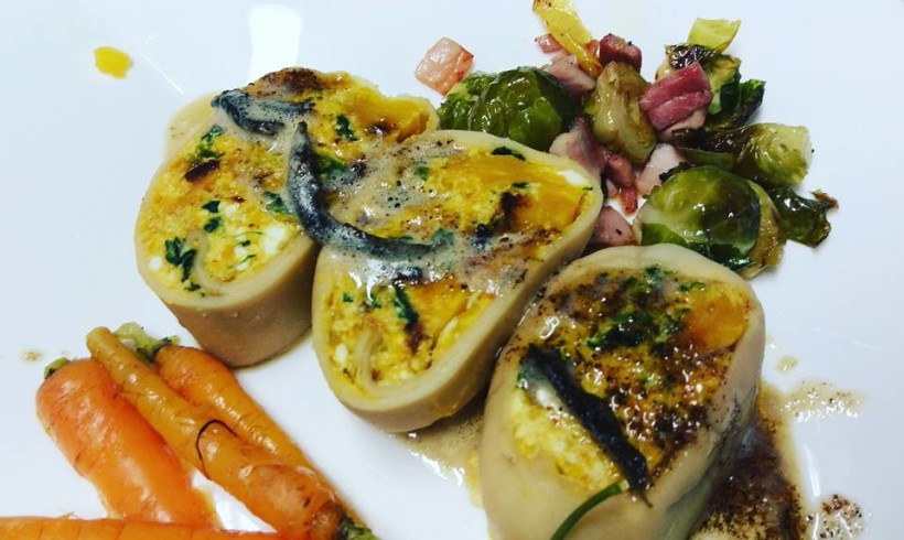 Simone's Pumpkin Rotolo with Burnt Sage Butter