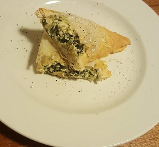 Georgia's Silverbeet, ricotta and feta triangles