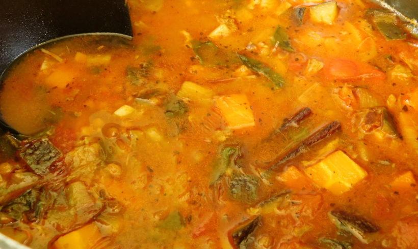 Lamb-bone harira soup
