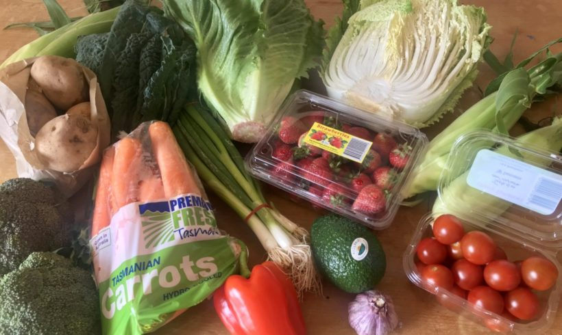 Backyard Bounty all-Tasmanian Vegie box: 21st February