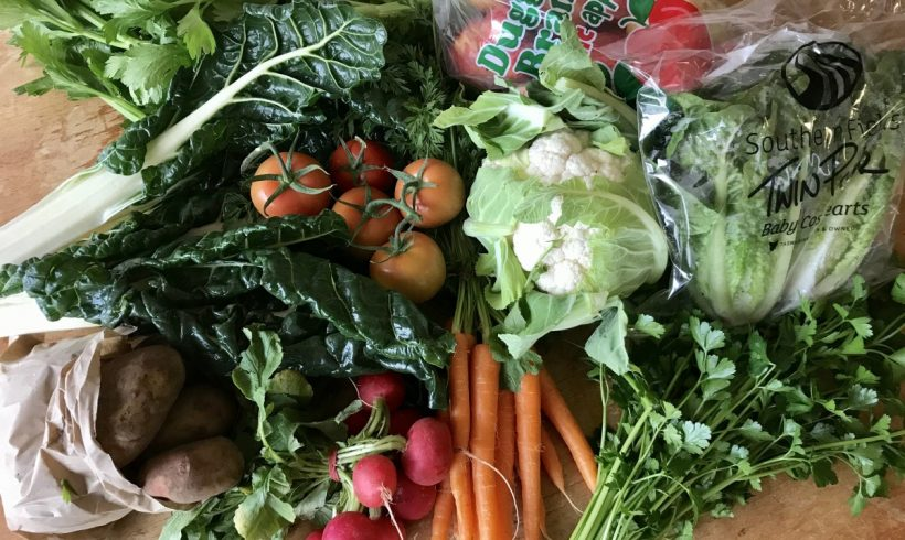 Backyard Bounty all-Tasmanian Vegie box: 5th July