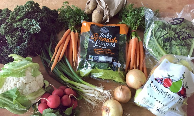 Backyard Bounty all-Tasmanian Vegie box: 16th August