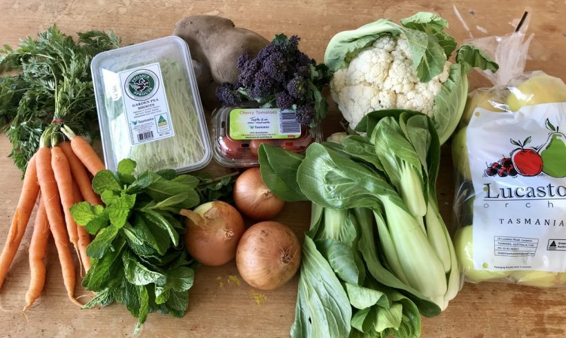 Backyard Bounty all-Tasmanian Vegie box: 27th September
