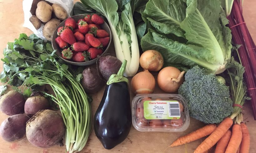 Backyard Bounty all-Tasmanian Vegie box: 1st November