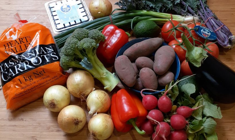 Backyard Bounty all-Tasmanian Vegie box: 7th February