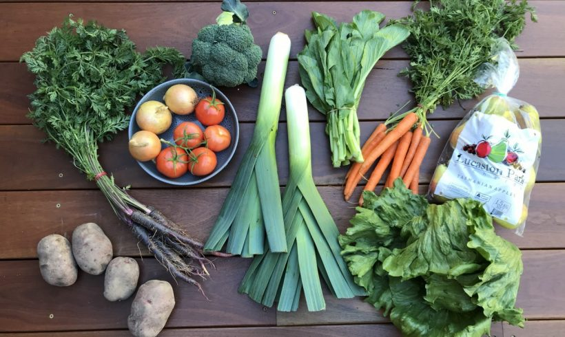 Backyard Bounty all-Tasmanian Vegie box: 15th May