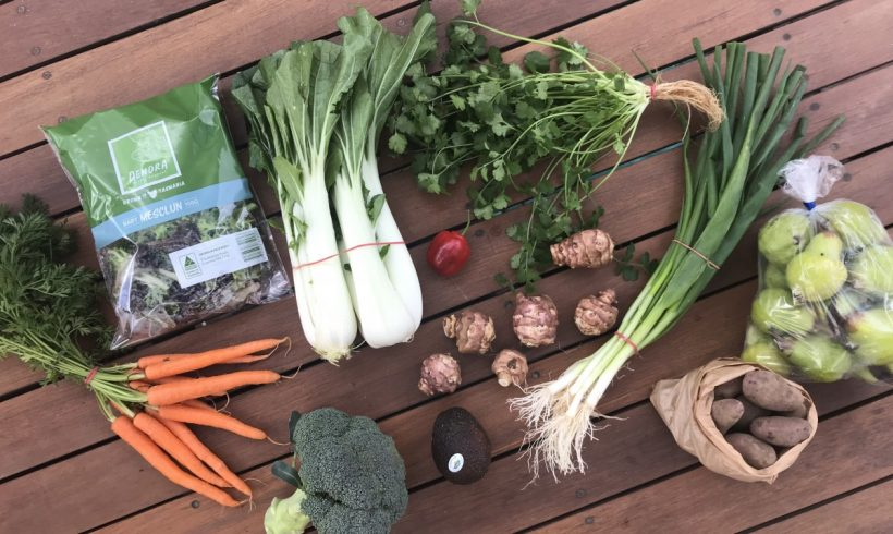 Backyard Bounty all-Tasmanian Vegie box: 29th May