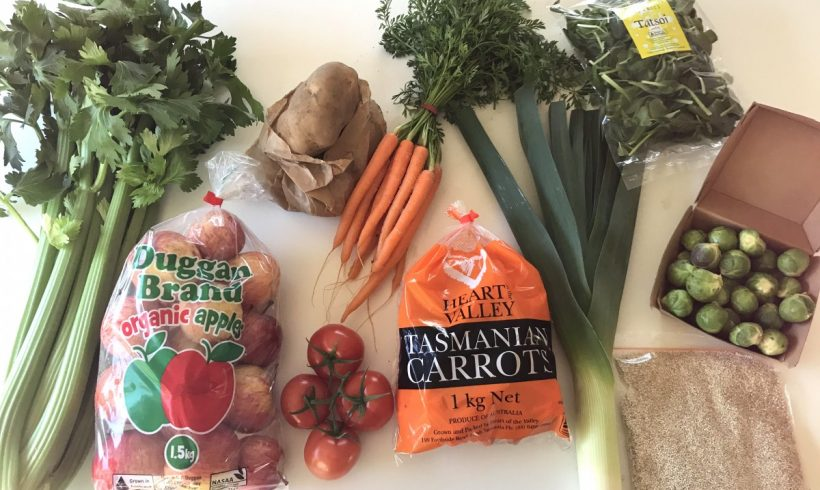 Backyard Bounty all-Tasmanian Vegie box: 26th June