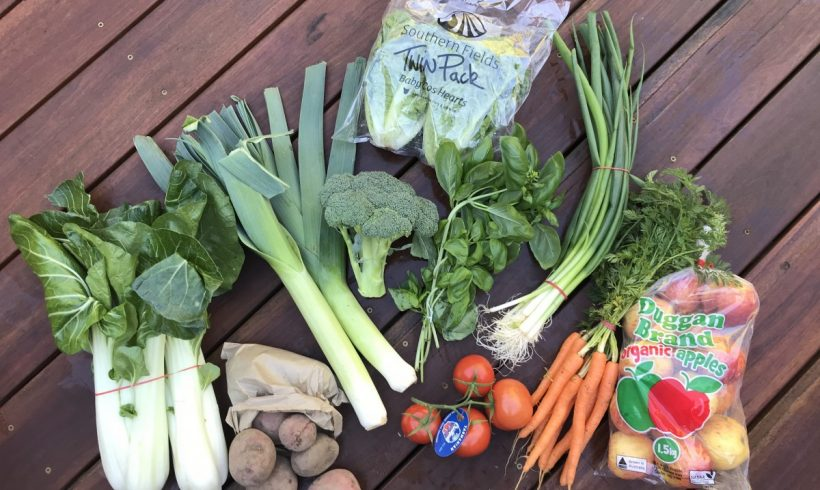 Backyard Bounty all-Tasmanian Vegie box: 17th July