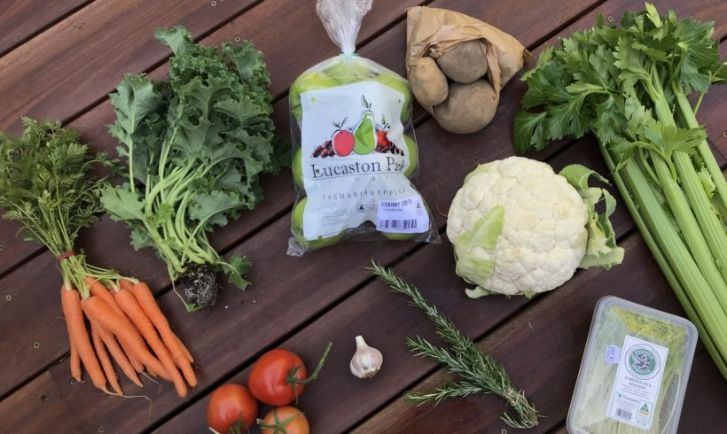 Backyard Bounty all-Tasmanian Vegie box: 24th July