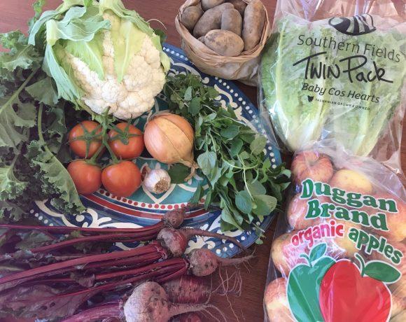 Backyard Bounty all-Tasmanian Vegie box: 7th August