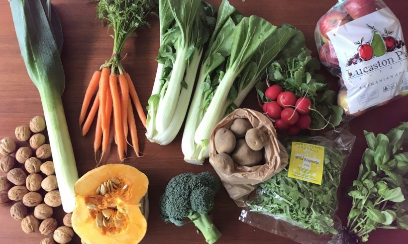Backyard Bounty all-Tasmanian Vegie box: 14th August