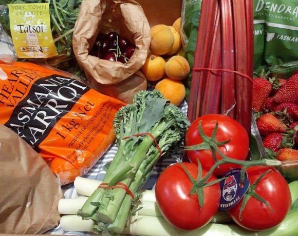 Backyard Bounty all-Tasmanian Vegie box: 15th January